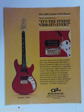 retro magazine advert 1982 G & L guitar