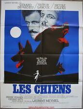 LES CHIENS Affiche Cinéma / Movie Poster GERARD DEPARDIEU