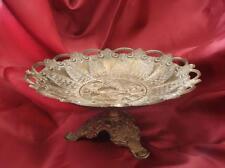 19C. Antique Art Nouveau Bronze Fruit Bowl