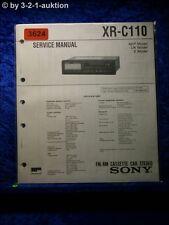Sony Service Manual XR C110 Cassette Car Stereo  (#3624)