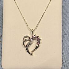 Ruby   Diamond 14k yellow Heart Pendant