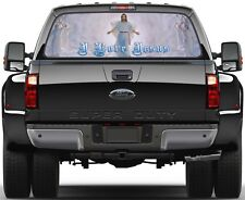 Jesus Christ The Lord I Love Jesus Ver 2  Rear Window Graphic Decal Truck SUV