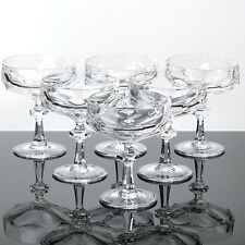 6 Sektschalen Nachtmann Alexandra Bleikristall Sektgläser Gläser Vintage Dessert
