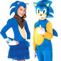 Sonic The Hedgehog Kids Fancy Dress Sega Video Game 80s Childrens Costumes New