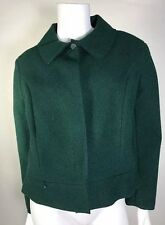 NWOT Nina Ricci Paris 100% Authentic Woman Tweed Jacket Blazer SZ44 Green