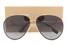 Brand New Burberry Sunglasses BE 3108 10174L Black Gold/Grey Gradient For Men