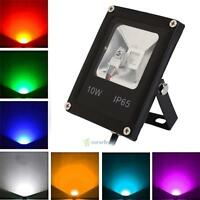 10W LED RGB Automatic Colour Changing Outdoor Garden Spike Spot Light Waterproof