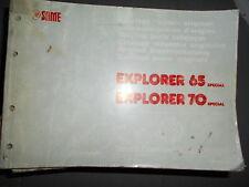 Same EXPLORER 65 70 Special 1989 : catalogue de pièces