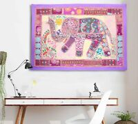 Indian Embroidered Elephant Style Tapestry Vintage banjara style wall hanging