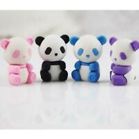 4pcs Panda shape Pencil eraser School Office Stationery Kid,.pro High quality