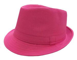 FEDORA TRILBY GANGSTER FEDORA BUCKET HAT MEN WOMEN SOLID CAP