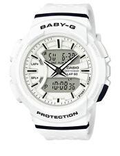 Casio Baby-g Dual Time Runner Watch Bga-240 White X Black Bga-240-7a 2y