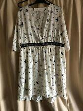 New River Island Print Dress, Cream, UK 12, RRP £59