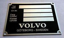 Plaque constructeur VOLVO - vin plate VOLVO - typenschild VOLVO
