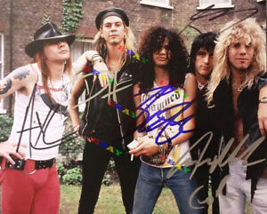 GUNS N' ROSES Autograph Band Autographed  signed 8x10 Photo Reprint
