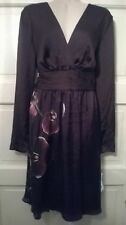 ALTUZARRA for Target Satin Wrap Dress Purple Orchid Print Size 6 *NWT*GORGEOUS*