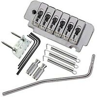 6 String Saddle Tremolo Bridge for Electric Guitar Heavy Thickened Base Chrome