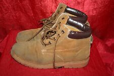 AUSTRALIAN CLASSIC Wheat Faux-Nubuck Ankle Boots UK7 Lace Up Flats V.W0RN MARKED