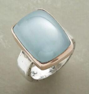 Sundance Catalog Jes MaHarry Aguamarine ocean ring size 8 Retail $1595
