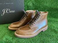 NEW JCREW $248 Mens Kenton Leather Pacer Boots Sz 11 Rustic Canoe /Brown c8867