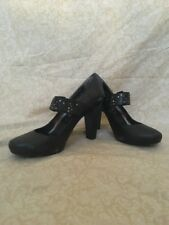 DKNY Teagan Washed Leather Calf Black, Women's Shoes, Size 10M