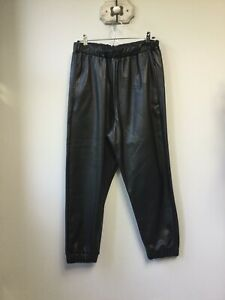 Gorgeous Ladies M&S Limited Edition Black PU Faux Leather Cuffed Harem Trousers,