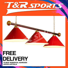 RED METAL SHADE POOL BILLIARD SNOOKER TABLE LIGHT CLASSIC LAMP POST