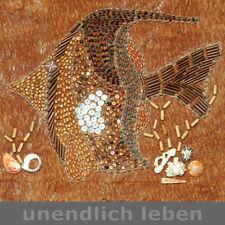 Meisterliches WAND BILD Fisch Handarbeit Kunsthandwerk - UNIKAT für uns signiert