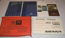 2007 TOYOTA SIENNA OWNERS MANUAL GUIDE BOOK SET WITH CASE OEM