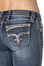 ROCK REVIVAL JEANS NWT Low Rise Embellished Jaylyn Bootcut Stretch Jean 25 X 33