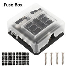 6 Way Blade Fuse Holder Box Block Case 12V/24V Car Truck Boat Marine Bus RV Van