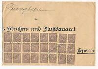 DR MiNr D33 24x Ludwigshafen nach Speyer 7.4.23 links beschnitten