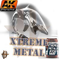 AK Interactive Xtreme Metal 30ml Lacquer Metallic Paint Free Shipping Order $35+