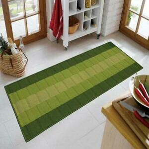 Green Color Anti Skid Backing Runner Of Polypropylene With Size: 22 x 55 inches