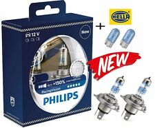 NEW! PHILIPS H4 RacingVision +150% 60/55W 12V P43T 12342RVS2(2pc) +blue w5w 2 pc