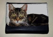 Gato atigrado Dinero Monedero Billetera amante del animal doméstico animal Foto Regalo Del Ventilador