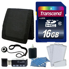 Transcend 16GB Class 10 Memory Card Complete Digital Camera Accessory Kit 16 gb