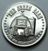 1975 C.M. 1 Oz 999 Silver Round THE GREEN BARN 12 DOLLARS BICENTENNIAL Bullion