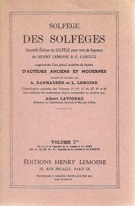 Solfège des Solfèges - A Lavignac - Pour voix soprano - Volume 2A
