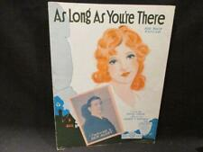 As Long As You're There 1931 Ben Alley Sheet Music Edgar Leslie & James Monaco
