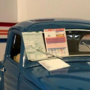 1/43 Scale Diorama Model Garage MOT Checklist +Test Certificate +Log Book +FREE!