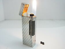 DUNHILL Rollagas Lighter Wave Silver Gas leaks Auth Swiss W/4p O-rings