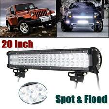 20inch 126W 42 LED Spot Flood Work Light Bar Lamp For SUV ATV Boat Offroad UTE