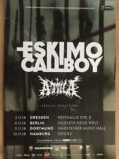 ESKIMO CALLBOY  2018 TOUR - orig.Concert Poster -- Konzert Plakat   A1  NEU
