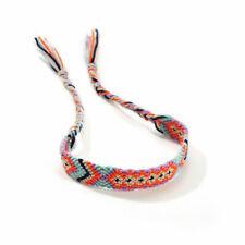 Boho Hemp Cords Wrap Ethnic Tribal Bracelets Women Handmade Rope Cuff Wristband