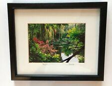 """Signed Claude Taylor Framed Photograph Monet's Garden France Matted Art 11""""x9"""""""