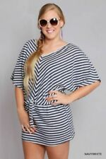 Polyester Stripes Dresses for Women's Shift Dresses