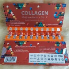 COLLAGEN Platinium Forte+Vit C BIOCELL  5 ml X 10 Amps  Free Shipping+Tracking