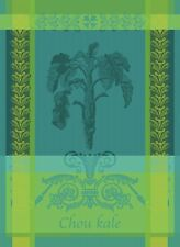 GARNIER THIEBAUT, CHOU KALE BLEU (CABBAGE KALE) WOVEN FRENCH KITCHEN / TEA TOWEL