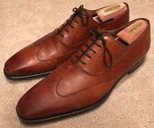 Magnanni Men's Golosalvo Oxford Guodi Cognac Tan Dress Shoes Sz 11 Wingtip